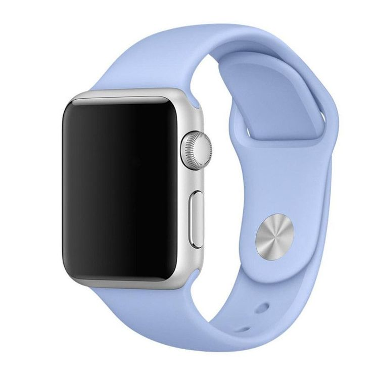 Apple Watch band Made from a custom high-performance fluoroelastomer, the Sport Band is durable and strong, yet surprisingly soft. The smooth, dense material drapes elegantly across your wrist and fee