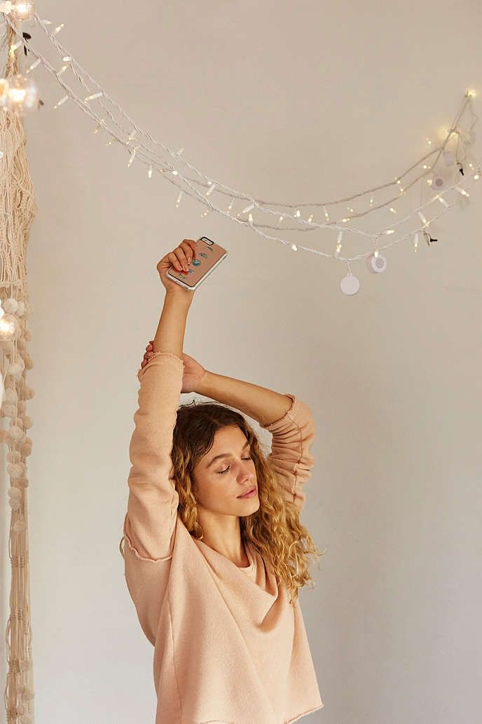 Bluetooth speaker string lights from Urban Outfitters. Surround sound for your bedroom