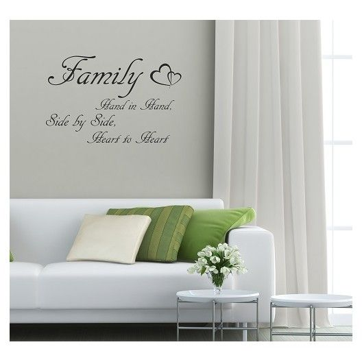 Dekoracny napis na stenu FAMILY