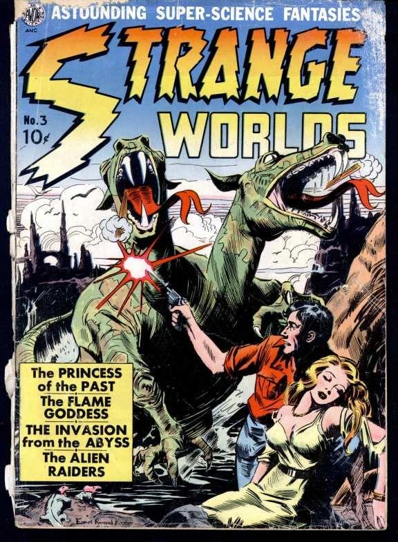Comic Book Cover For Strange Worlds Issue #3 Avon Comics