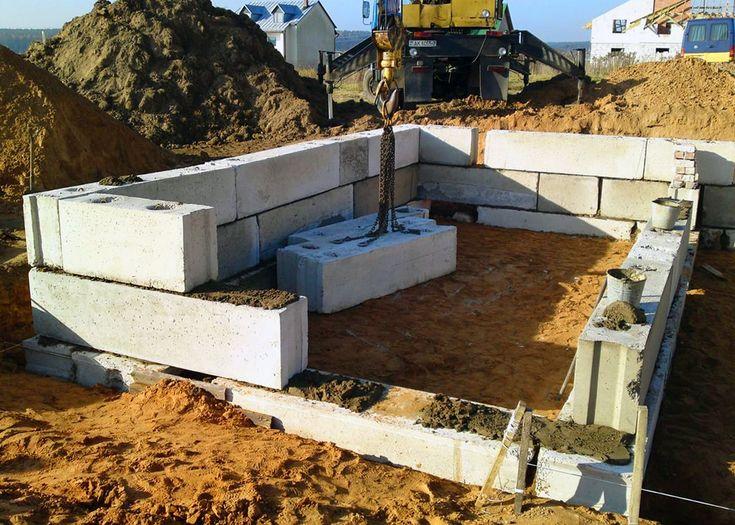 Блочный фундамент для дома (Block foundation for the house)