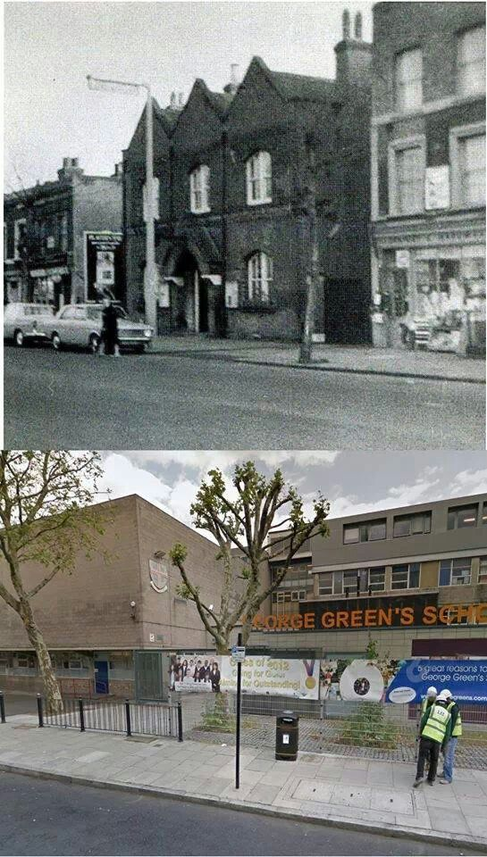 Then 1960's Police station and shops... Now George Green Secondary School... All my 3 children went there...