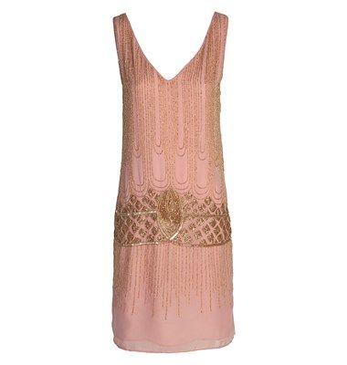 Midi crepe dress with sequin embellishment