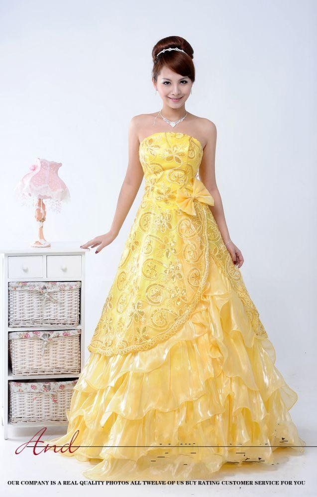 Yellow Dresses For Weddings Canary Yellow Dresses For Weddings ...