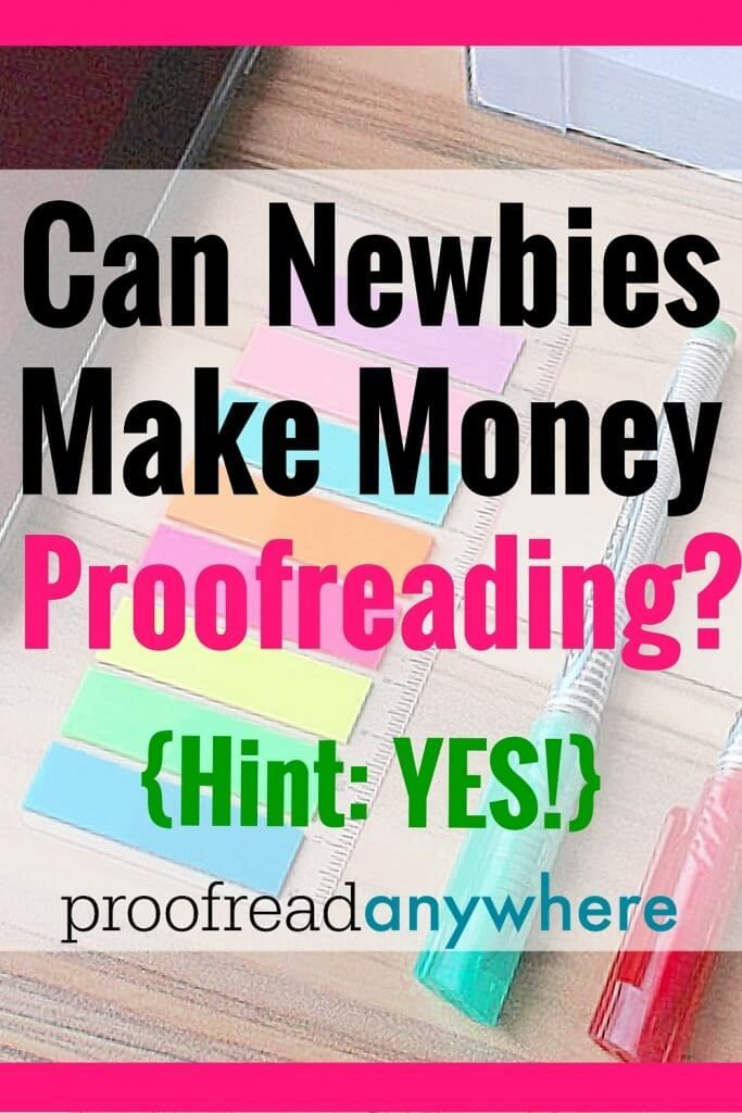 Proofread online for money