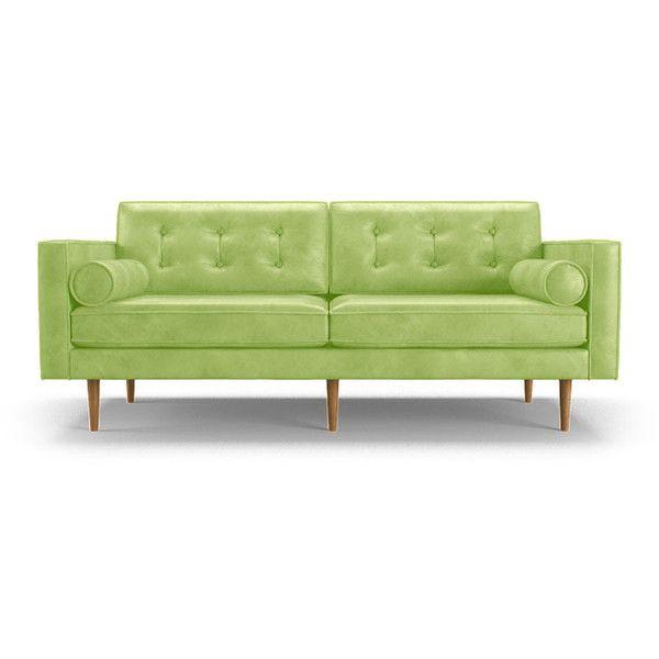 Ledersofa creme  Die besten 25+ Green leather sofa Ideen auf Pinterest | Samt Sofa ...
