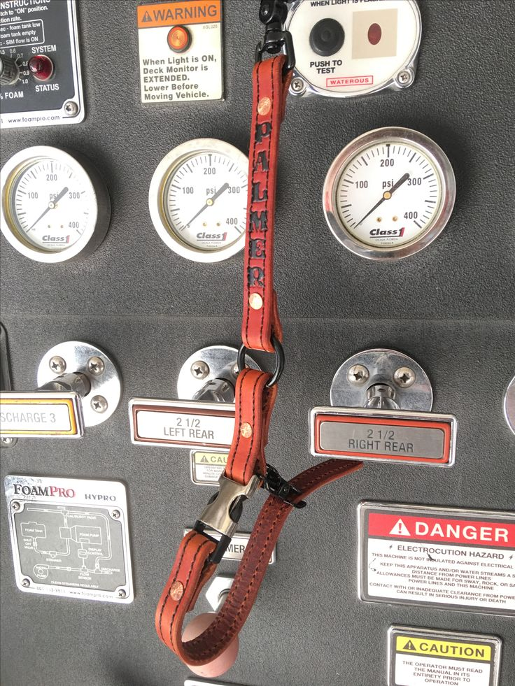 Leather firefighter glove straps with 6 inch drop. Available today at   www.tollhouseleatherworks.com