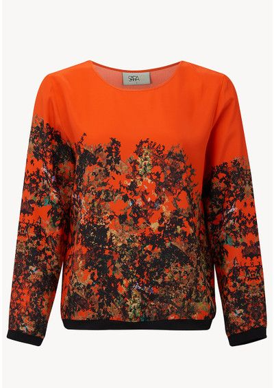 Sweater with orange print