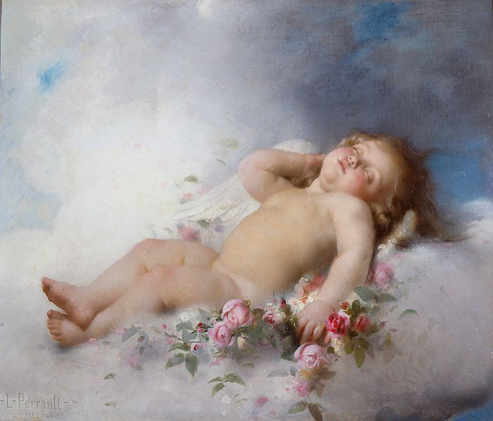 Sleeping putto_Léon Bazile Perrault 1882