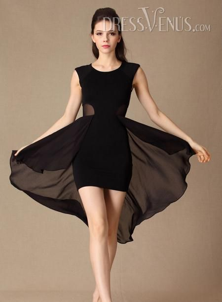 Amazing Asymmetry Short Short Dress Clothing