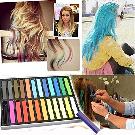 24 hair art gessolini per tinture temporanee per capelli MWS