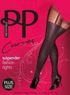 Pretty Polly Curves Suspender Tights - Tights, Stockings, Shapewear and more - MyTights.com - The Online Hosiery Store