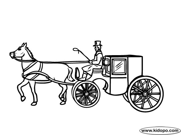 horse carriage coloring pages - photo#5