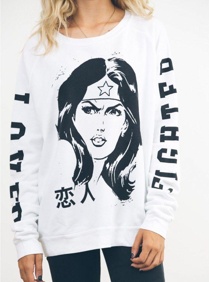 Wonder Woman Fleece - Sweatshirts - Tops - Womens