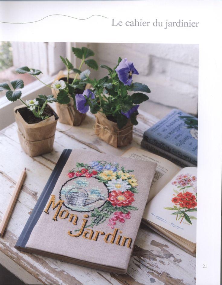 Dans Mon Jardin au Point de Croix Book - 'Mon Jardin' Notebook Cover
