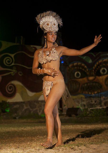 Lili Pate During Tapati Festival, Easter Island, Hanga Roa, Chile