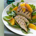 Orange Chicken with Wilted Spinach Salad