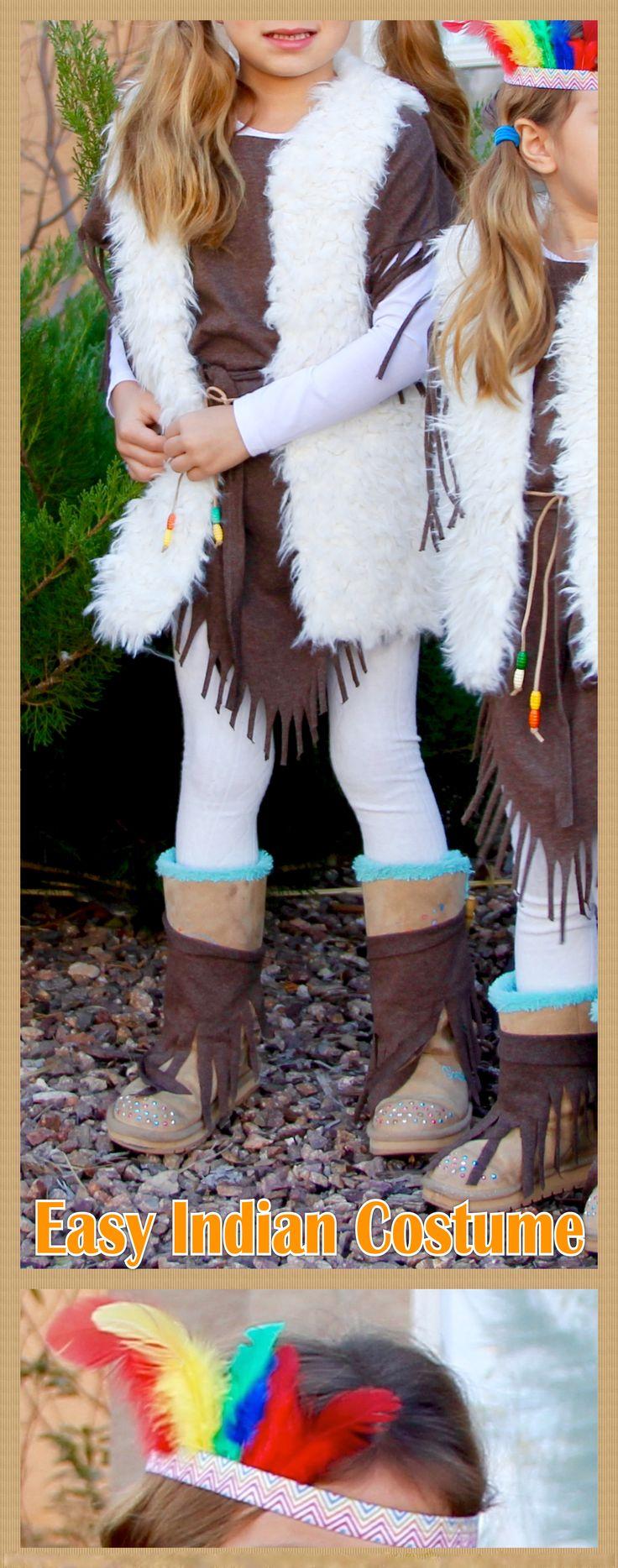 Easy girls Indian costume DIY cheap