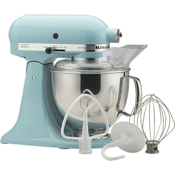 KitchenAid® Artisan Aqua Sky Stand Mixer in New Kitchen & Food | Crate and Barrel