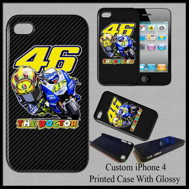 Valentino Rossi VR46 The Doctor MotoGp Champion Hard Case Cover For iPhone 4