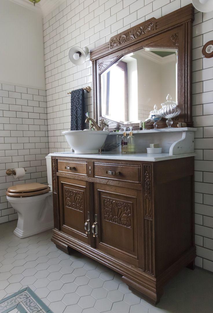 Antique Washstand Washbasin Vintage Inspired 30 39 S Art Deco Vanity Our Bathroom