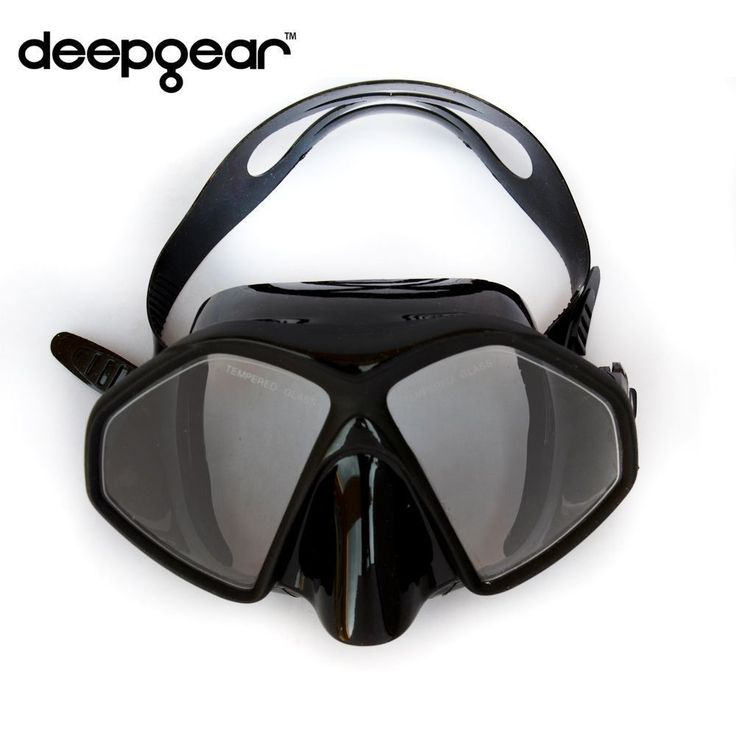 DEEPGEAR Frameless scuba diving mask Black silicone Tempered glass dive mask Twin lens adult scuba dive mask snorkel equipment #scubadivingequipmentwetsuit #scubadivingequipmentwatches #scubadivingequipmentmasks