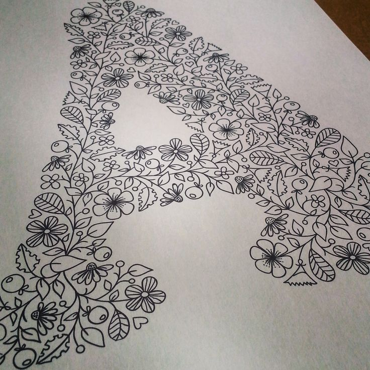 Letter A illustration for colouring book