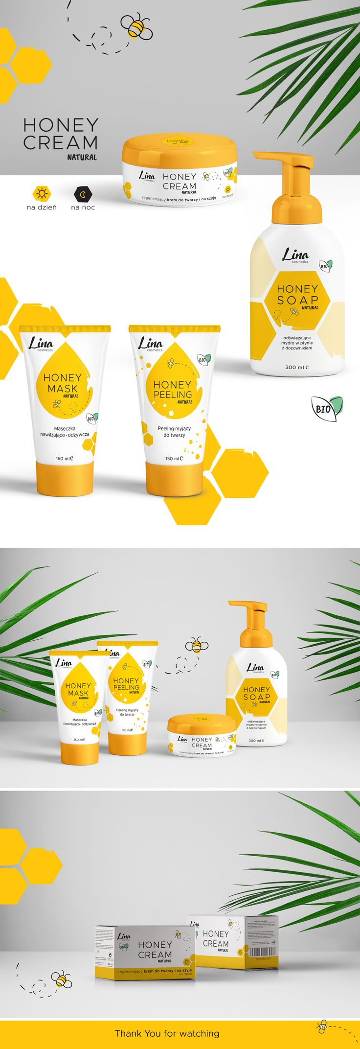 Honey cosmetics on Behance