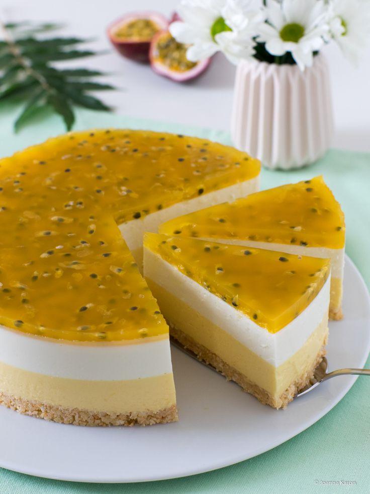 Mango-Kokos-Torte mit Maracujaspiegel