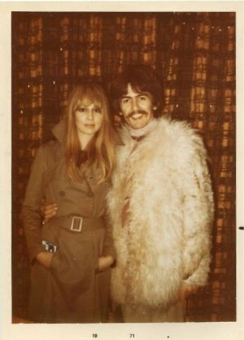 george-harrison-is-my-boyfriend: George Harrison and Pattie Boyd, 1969. Early 1967 - Pattie and George at the Liverpool home of Peter and Pauline Harrison - taken by Pauline.