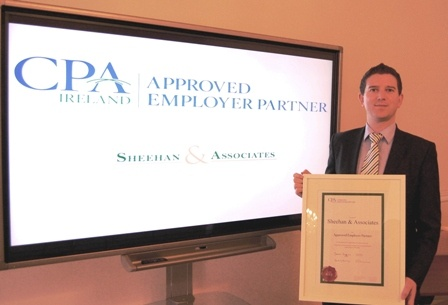 Jimmy Sheehan, from Jimmy Sheehan & Associates with his AEP Certificate.