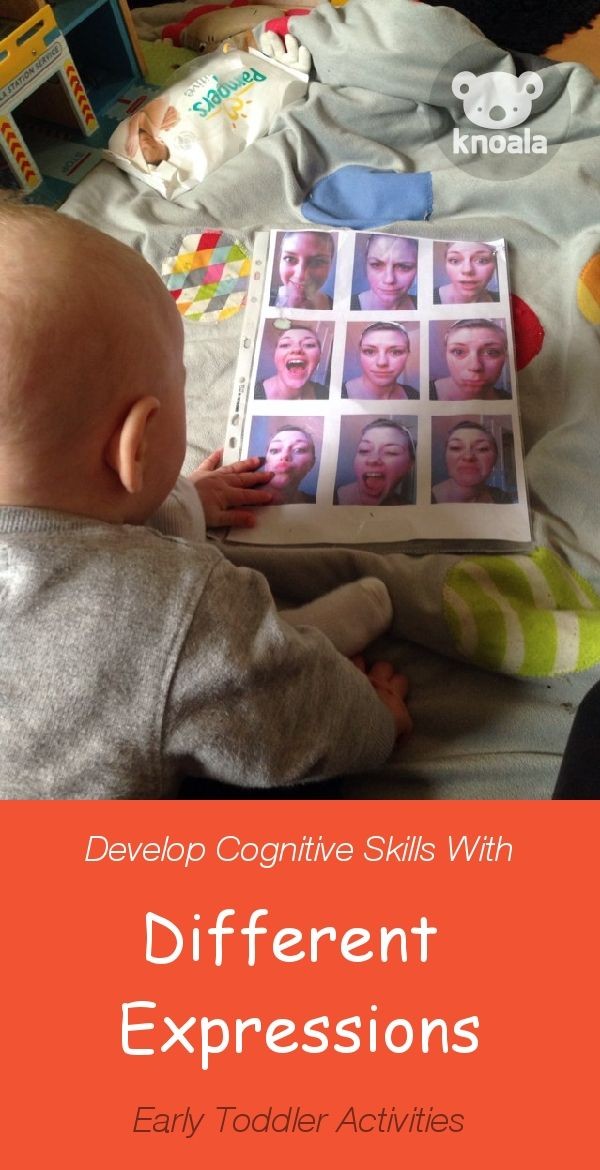 #Knoala Early Toddler activity 'Different Expressions ' helps little ones develop Cognitive, Emotional and Language skills. Click for simple instructions & 1000s more fun, easy, no-prep activities for kids ages 0-5! #activities #DIY