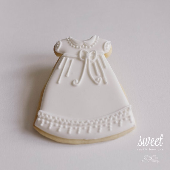 Baby Girl Christening Cookie Favors  // One by sweetcookieboutique, $36.00