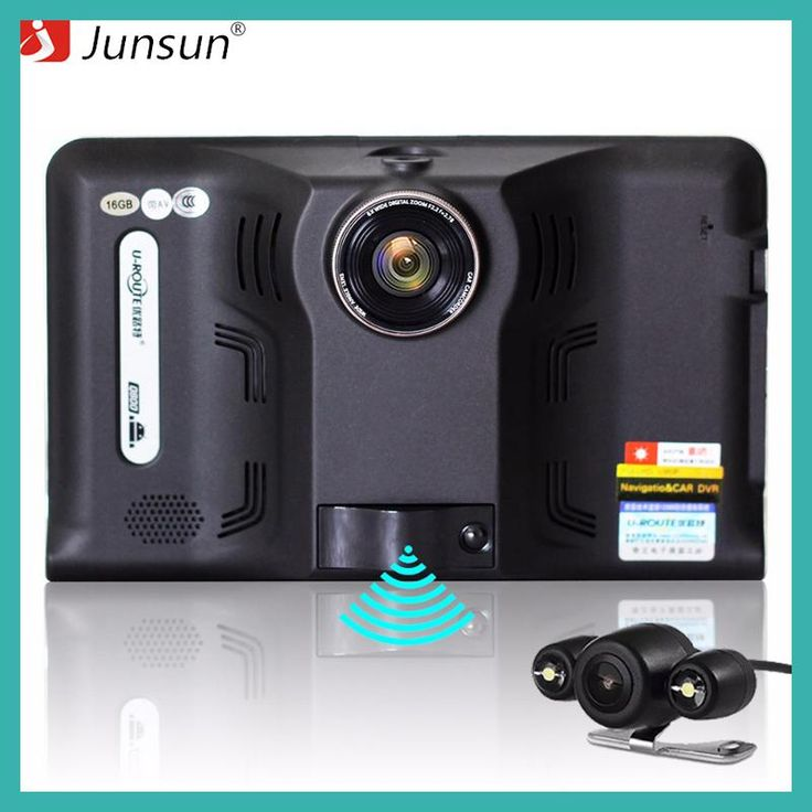 "Junsun 7"" Car Navigation with car video recorder radar detector Android GPS Navigator Allwinner A23 rear camera Auto gps coch"