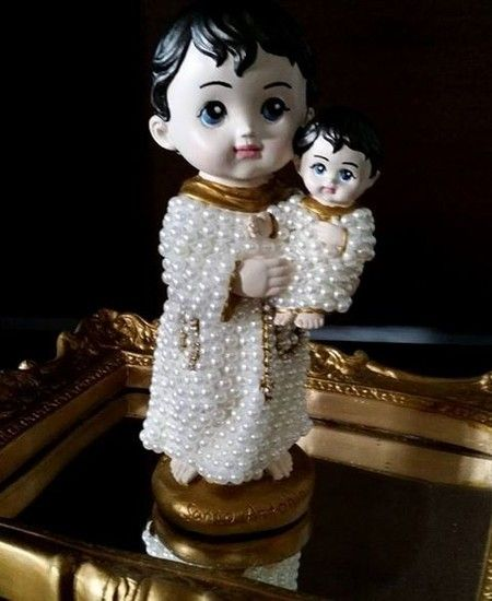 Santo Antônio Baby com pérolas - 20 cm