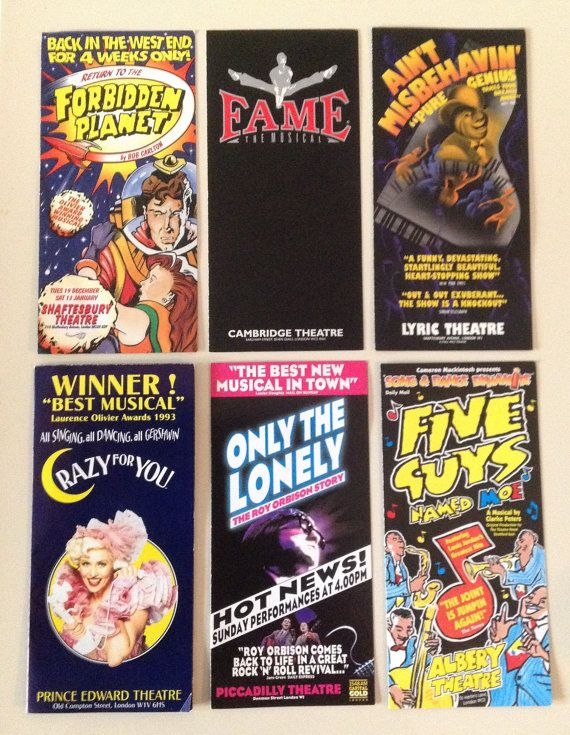 London West End Theatre Pamphlets by ComicKamikaze on Etsy