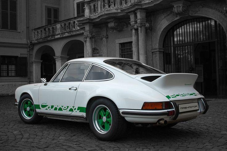 Porsche Carrera RS 1973 Restoration by Mashmotor #mashmotor #restoration #porsche #carrerars #aircooled #castle #blackandwhite #nagyteteny #hungary #luxurycar #luxury #baroque #garden #architecture #porscheday #fuchs #crest #white #car #carrera #green #canon #sportcar #luftgekühlt
