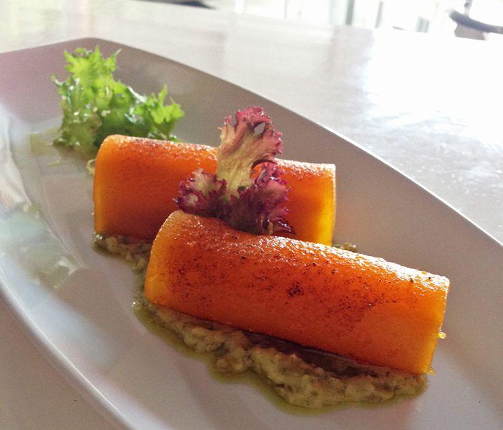 La receta de Serafín: Canelones de dulce de boniato y queso asado con mojo verde  #LaPalma