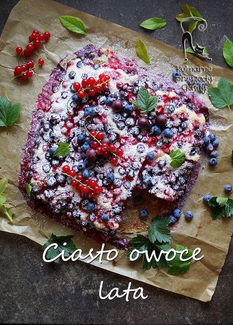 Kulinarne przygody Gatity: Ciasto drożdżowe z owocami lata