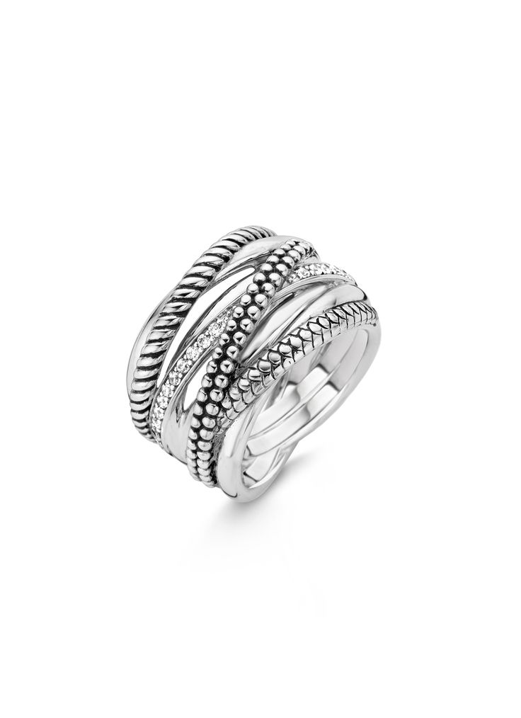 TI SENTO – Milano Ring (reference: 12066ZI) made of rhodium plated sterling silver. The rhodium plating provides extra shine and a longer lifetime of the jewellery. TI SENTO – Milano jewellery is always gift wrapped in a luxury packaging.
