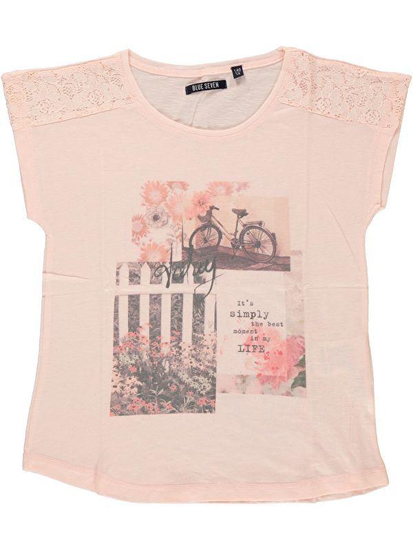BLUE SEVEN (Teens) shirt 'flower garden' (oud roze)