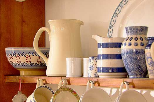 Pottery is a passion of Kirstie Allsopp's and there is a lovely collection throughout 'Meadowgate' in different shapes and colours.