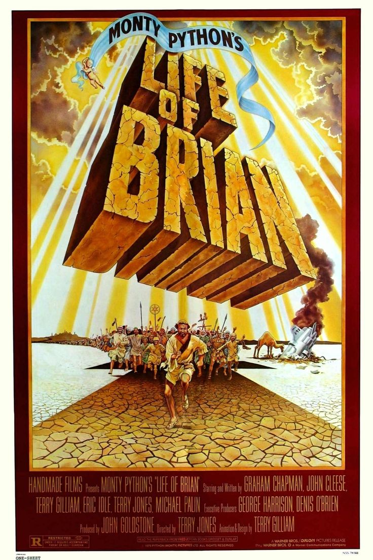 Monty Python's Life of Brian - Monty Python delivers the group's sharpest and smartest satire of both religion and Hollywood's epic films. Set in 33 A.D. Judea where the exasperated Romans try to impose order, it is a time of chaos and change with no shortage of messiahs and followers willing to believe in them.