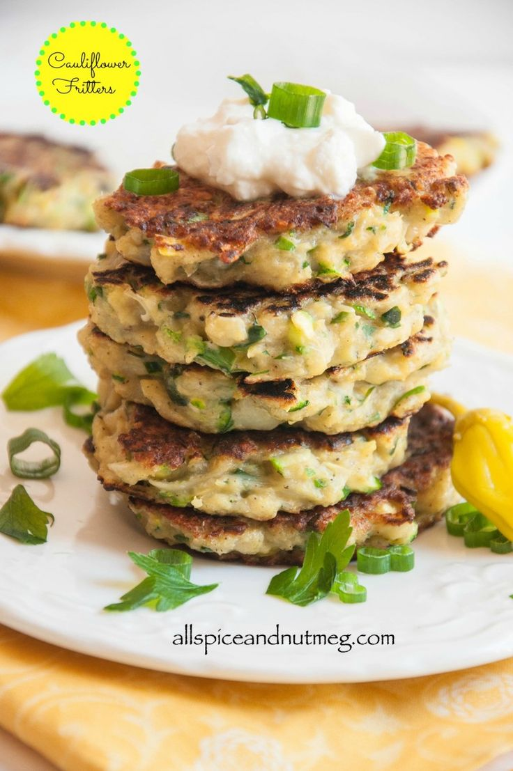 Cauliflower Fritters from Allspice and Nutmeg and 6 other Summer Vegetable Recipes