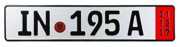 Ingolstadt Export German License Plate for Audi