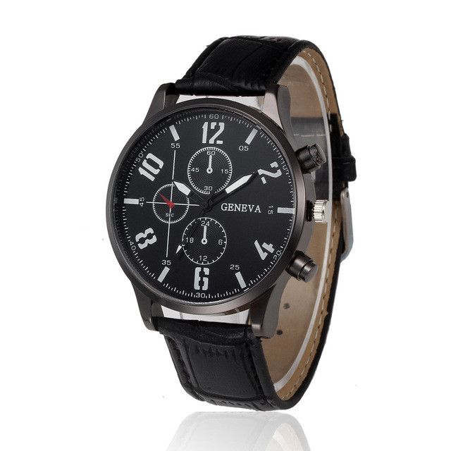 Retro Design Leather Band Analog Alloy Quartz Wrist Watches relogio masculino digital Business mens watch top brand luxury Gift