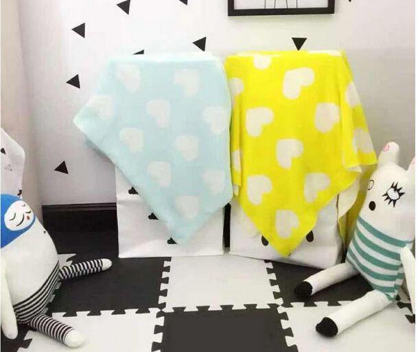 Modelo del corazón del algodón manta de tiro manta de bebé de punto ropa de cama para bebé 2 colores Throw Blanket 4 unids/lote venta al por mayor en Mantas de Bebés en AliExpress.com   Alibaba Group