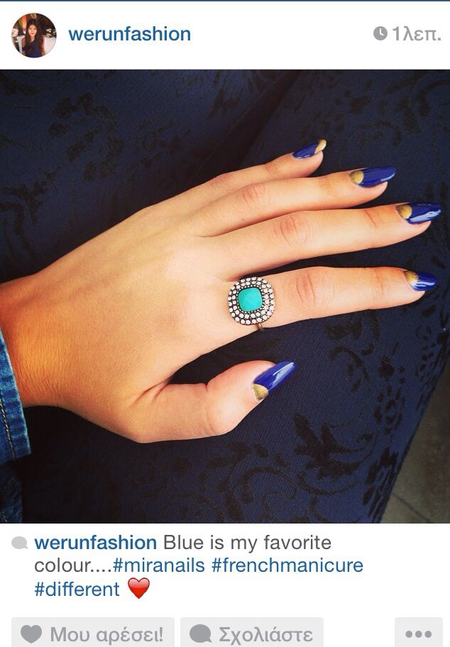 My nails...blue is my favorite color!!