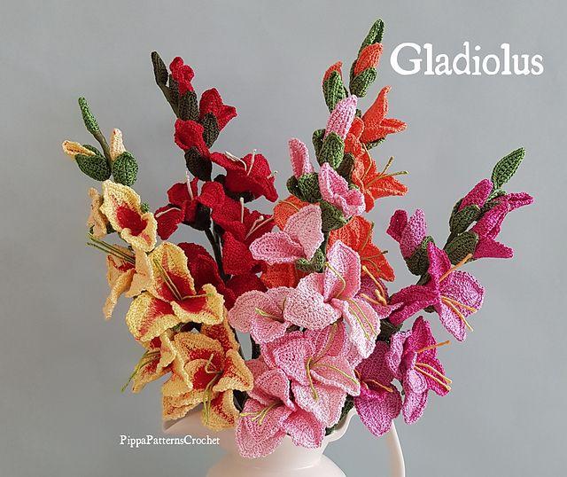 Gladiolus Gladiolus Flower Crochet Flowers Gladiolus