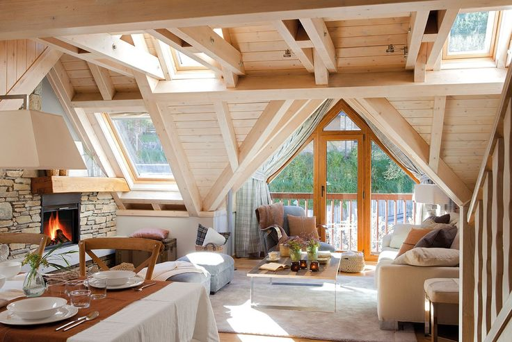 Cómo crear un espacio relajado y cálido para una casita de montaña